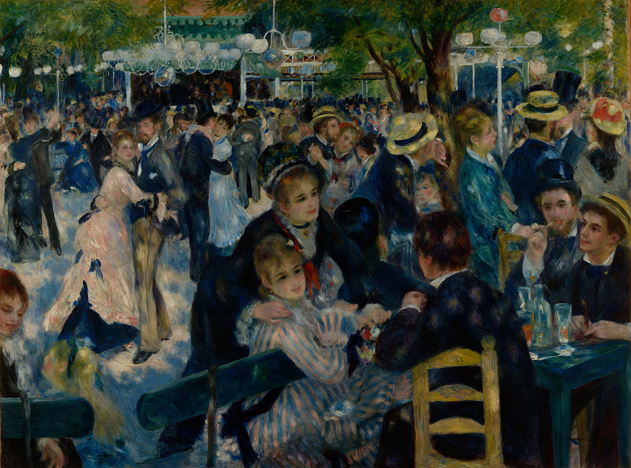 Auguste Renoir Dance at Le Moulin de la Galette Google Art Project